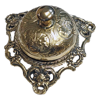 Elagant Victorian Brass Counter or Desk Bell