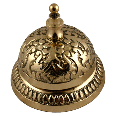 Victorian Brass Counter or Desk Bell