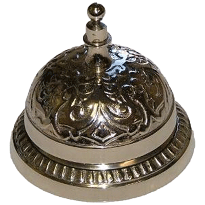 Nickel Counter or Desk Bell