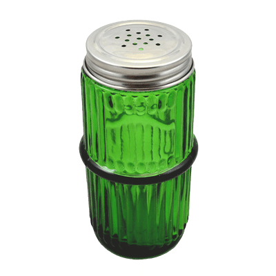 Green Mission Ringed Spice Jar