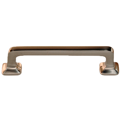 Brushed Nickel Square Corner Mission Drawer Pull
