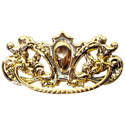 Ornate Victorian Brass Drawer Pull