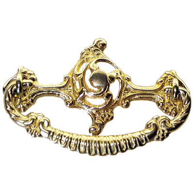 Open Victorian Cast Brass Drawer Pull