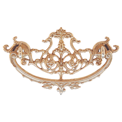 Decorative Cast Brass Victorian Drawer Pull