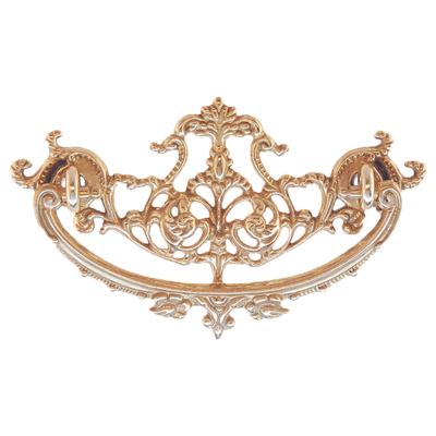 Decorative Cast Brass Victorian Drawer Pull