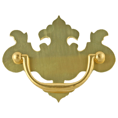 Large Chippendale Brass Drawer Pull