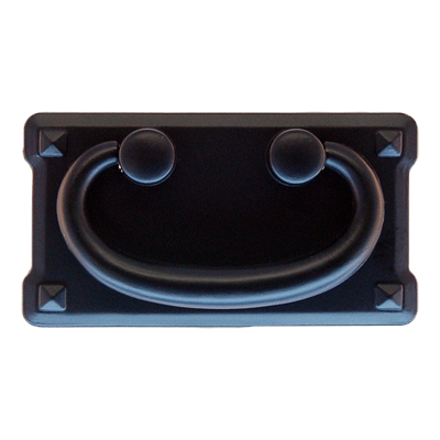 Large Black Horizontal Mission Drawer Pull