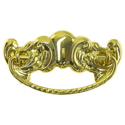 Decorative Victorian Brass Drawer Pull