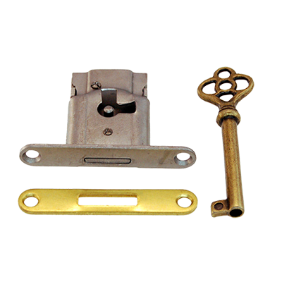 Full Mortise Cabinet and Door Lock with Plate and Skeleton Key