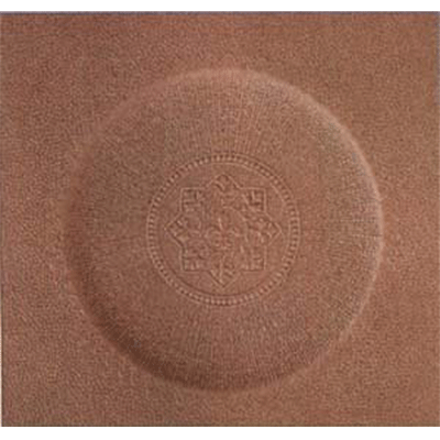 Round Fleur-De-Lis Fiberboard Chair Seat
