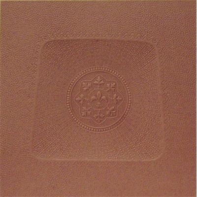 Square Fleur-De-Lis Fiberboard Chair Seat