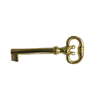Large Brass Plated Reproduction Skeleton Key