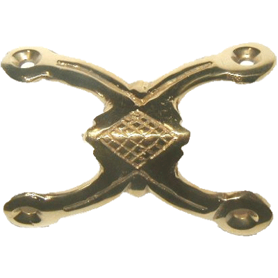 Cast Brass Double Leg Trunk Edge Clamp
