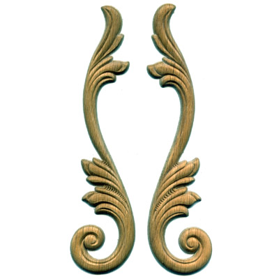 Acanthus Scroll Paired Onlays