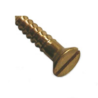 Solid Brass Flat Head Screws