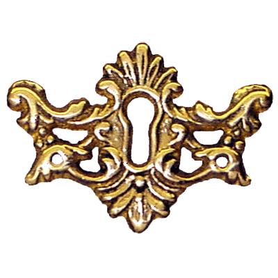 Victorian Cast Brass Keyhole Escutcheon