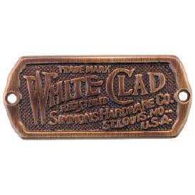White Clad Antiqued Ice Box Label