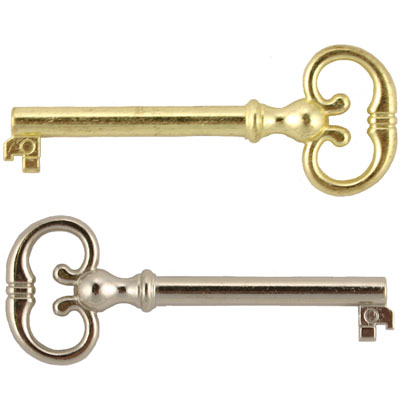 Reproduction Brass or Nickel Barrel Key