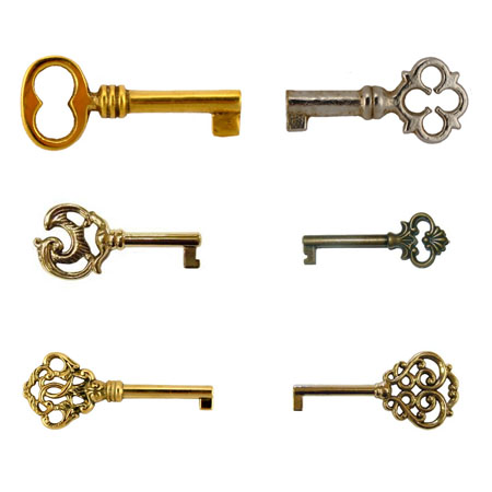 Fancy Bulk Skeleton Keys Package
