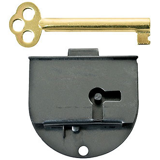 Rounded Half Mortise Left Lock & Skeleton Key