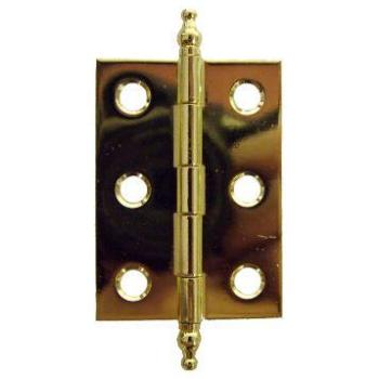 Brass Butt Hinge Pair with Finials