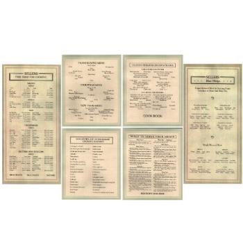 Sellers Door Chart Set of 6