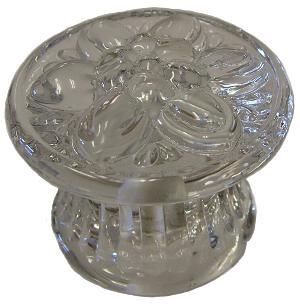 Pressed Glass Flower Drawer Knob