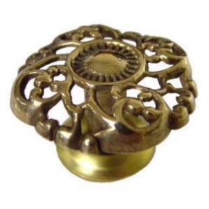 Open Victorian Cast Brass Knob