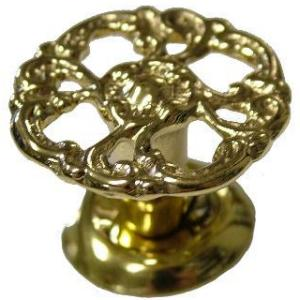 Small Victorian Cast Brass Knob