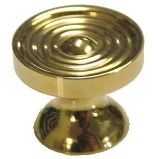Small Machined Brass Knob