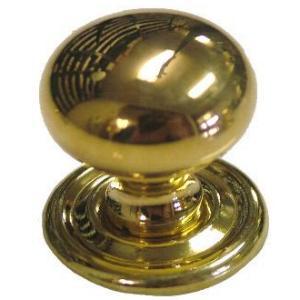 Small Bulbous Cast Brass Knob