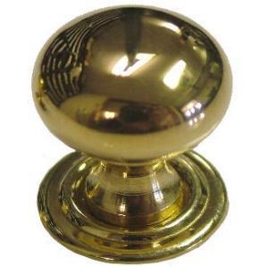 Extra Small Bulbous Cast Brass Knob