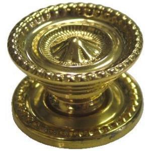Small Colonial Revival Style Brass Knob