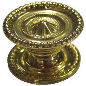 Medium Colonial Revival Style Brass Knob