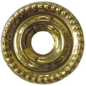 Small Beaded Backplate Brass Washer