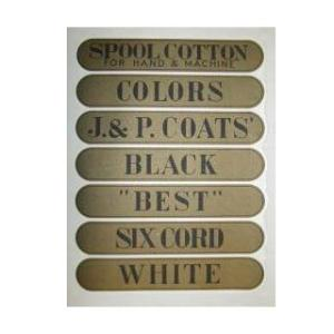 Spool Cabinet  Drawer Decal Set