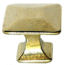 Arts & Crafts Mission Pyramid Brass Knob