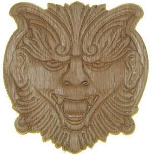 Mythical Creature Face Center Applique