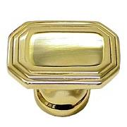 Rectangle Art Deco Brass Knob