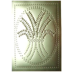 Vertical Wheat Pattern Pie Safe Tin