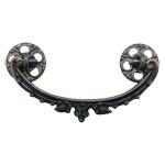Antiqued Victorian Brass Dresser Drawer Bail Pull