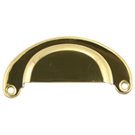 Half Moon Heavy Brass Bin Pull