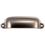 Cabinet & Furniture Cast Bin Pull in Brushed Nickel Finish
