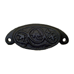 Oval Cast Iron Furniture & Cabinet Bin Pull