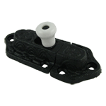Cast Iron Cabinet Latch with Porcelain Knob