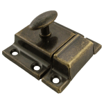 Antiqued Brass Large Stamped Cabinet Latch