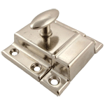 Nickel Plated Large Stamped Cabinet Latch