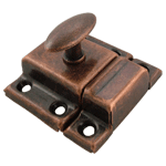Antique Copper Small Stamped Cabinet Latch