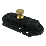Cast Iron Cabinet Latch with Brass Knob
