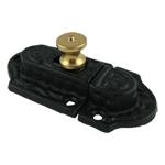 Cast Iron Cabinet Latch with Brass Knob